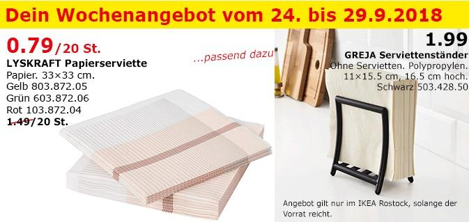 IKEA Rostock - LYSKRAFT Papierserviette 20St.