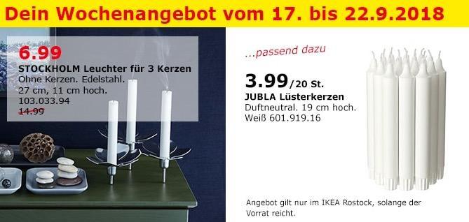 IKEA Rostock - STOCKHOLM Leuchter für 3 Kerzen
