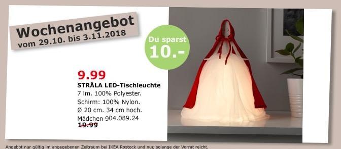 IKEA Rostock - STRALA LED-Tischleuchte, Mädchen, 34 cm hoch