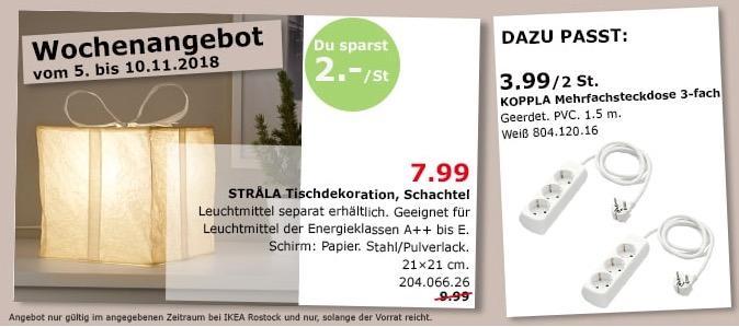 IKEA Rostock - STRALA Tischdekoration, Schachtel
