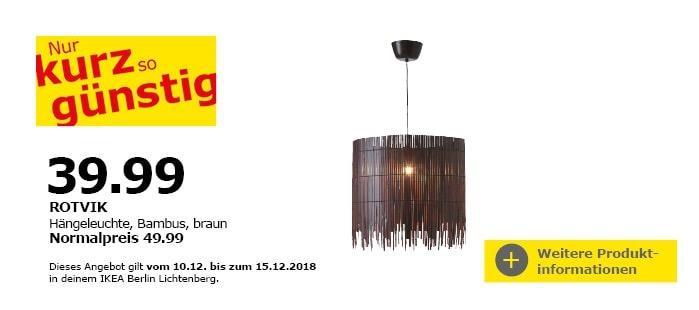 IKEA ROTVIK Hängeleuchte, Bambus