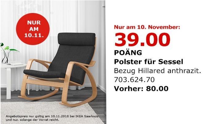 IKEA Saarlouis - POÄNG Sessel, Anthrazit