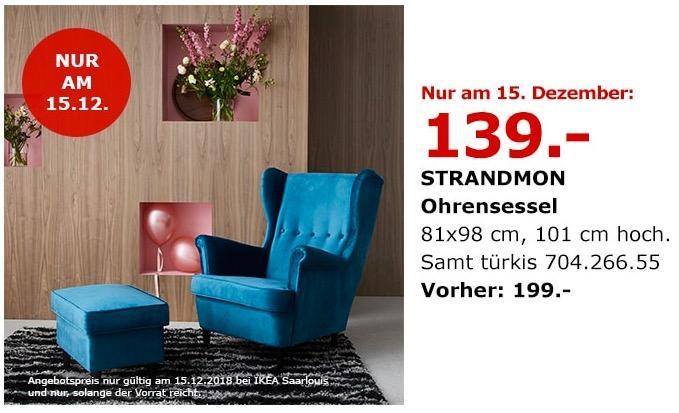 IKEA Saarlouis - STRANDMON Ohrensessel