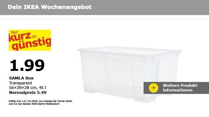 IKEA SALMA Box, 45 Liter