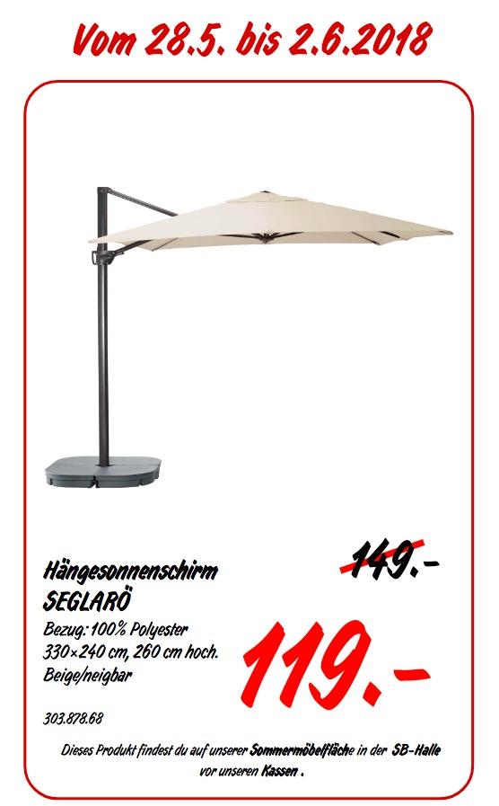 IKEA SEGLAR Hängesonnenschirm, 330x240 cm