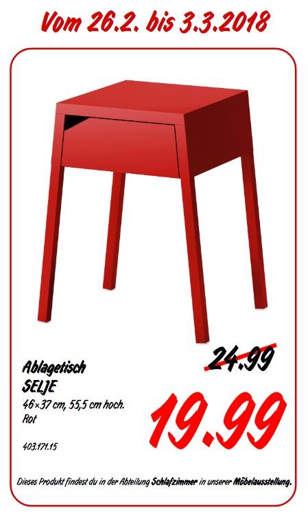 IKEA SELJE Ablagetisch