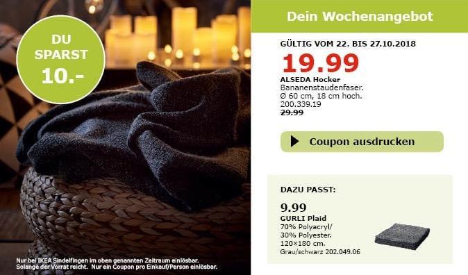 IKEA Sindelfingen - ALSEDA Hocker - jetzt 33% billiger