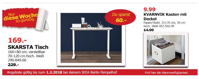 IKEA SKARSTA Tisch