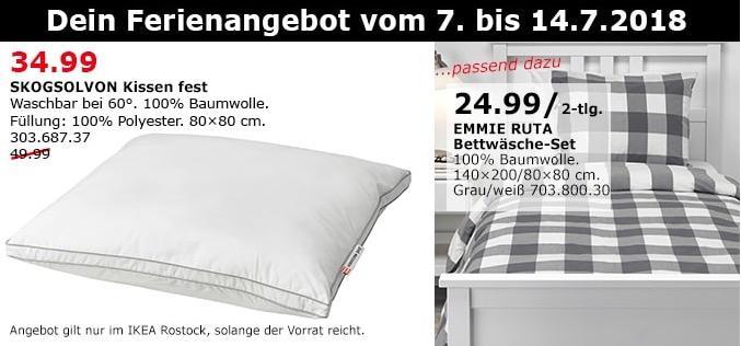 IKEA SKOGSOLVON Kissen fest