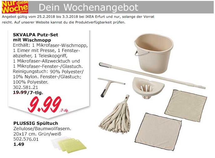 IKEA SKVALPA Putz-Set mit Wischmopp