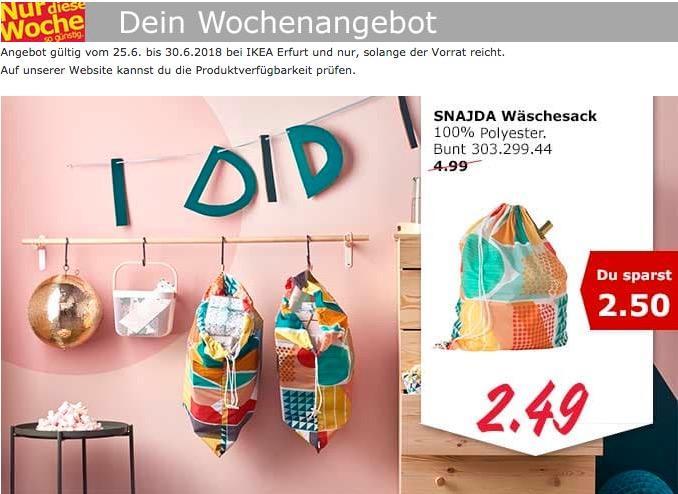 IKEA SNAJDA Wäschesack