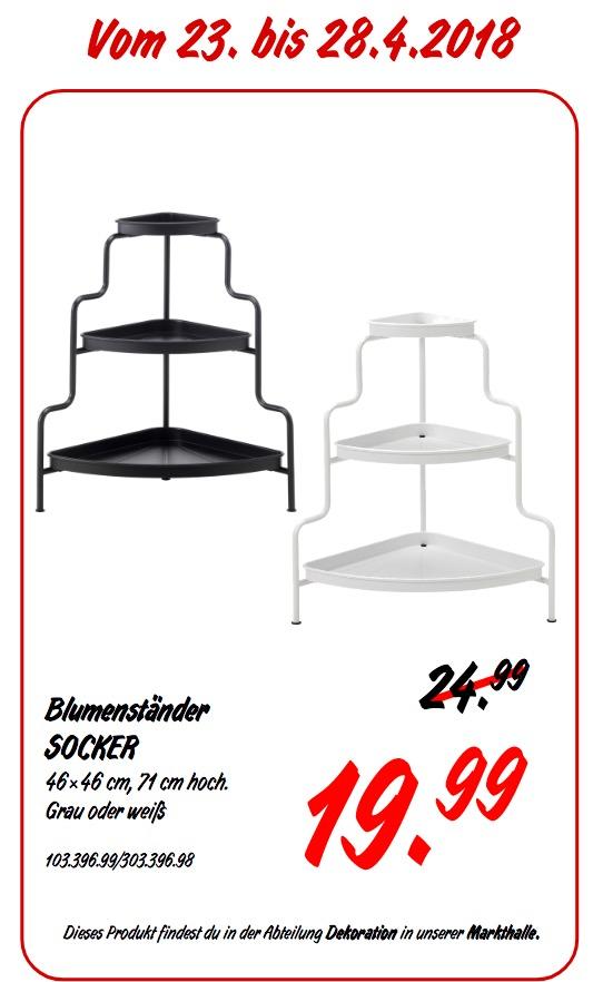 IKEA SOCKER Blumenständer grau oder weiß