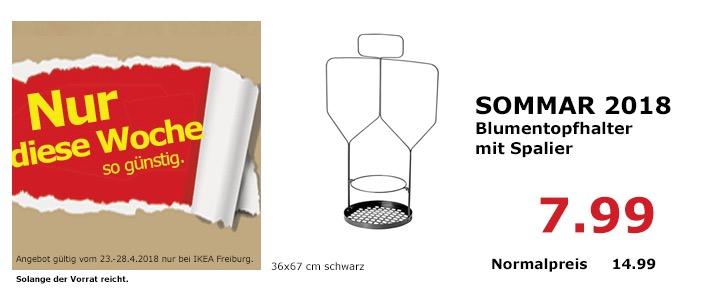 IKEA SOMMAR 2018 Blumentopfhalter mit Spalier