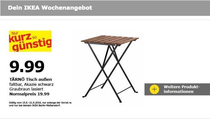IKEA TÄRNÖ Tisch