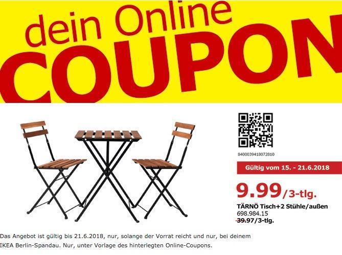 IKEA TÄRNÖ Tisch + 2 Stühle