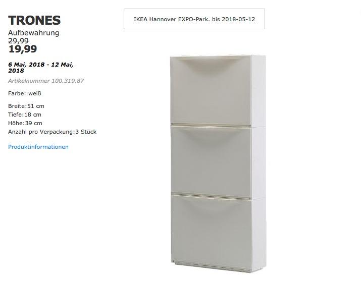 IKEA TRONES Aufbewahrung