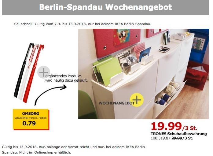 IKEA TRONES Schuhaufbewahrung 3 St - jetzt 33% billiger