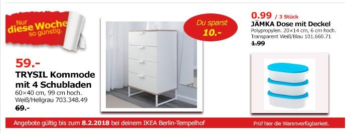 IKEA TRYSIL Kommode mit 4 Schubladen