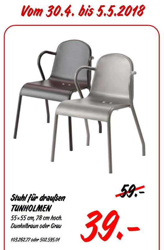 IKEA TUNHOLMEN Stuhl für draußen