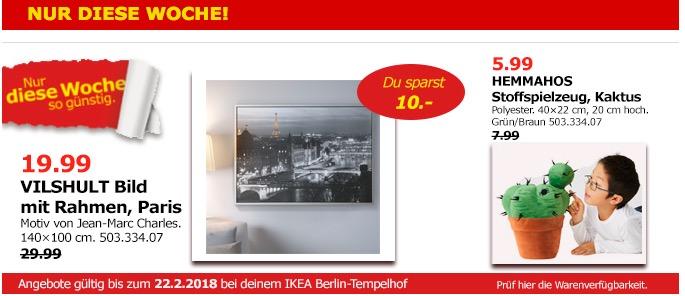 IKEA VILSHULT Bild mit Rahmen, Paris