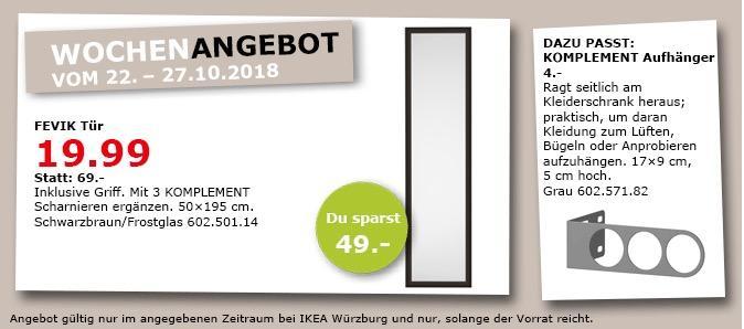 IKEA Würzburg - FEVIK Tür, 50x195 cm - jetzt 71% billiger