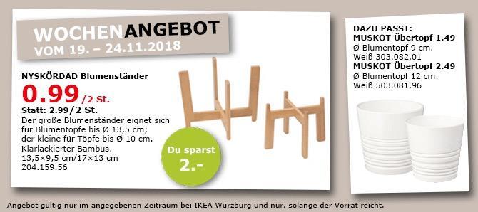 IKEA Würzburg - NYSKÖRDAD Blumenständer 2 St., klarlackierter Bambus