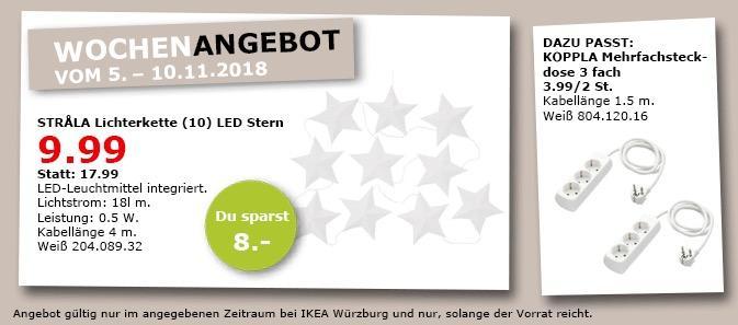 IKEA Würzburg - STRALA Lichtkette (10) LED Stern - jetzt 44% billiger