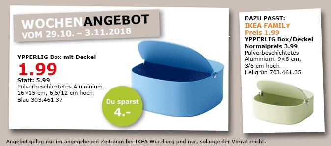 IKEA Würzburg - YPPERLIG Box mit Deckel, blau - jetzt 67% billiger