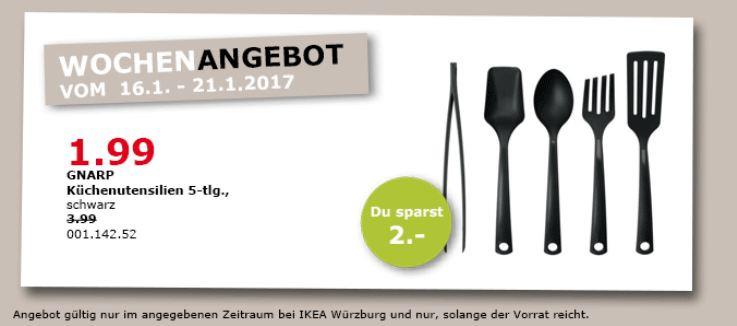 GNARP Küchenuntensilien 5-tlg., schwarz