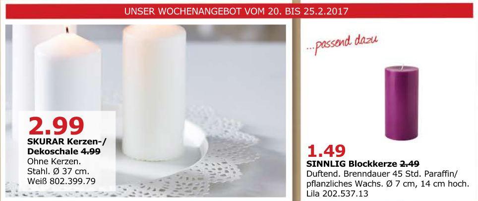 IKEA SKURAR Kerzen- /Dekoschale, 37 cm, weiß, ohne Kerzen