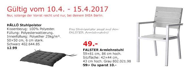 IKEA FALSTER Armlehnstuhl/außen, grau