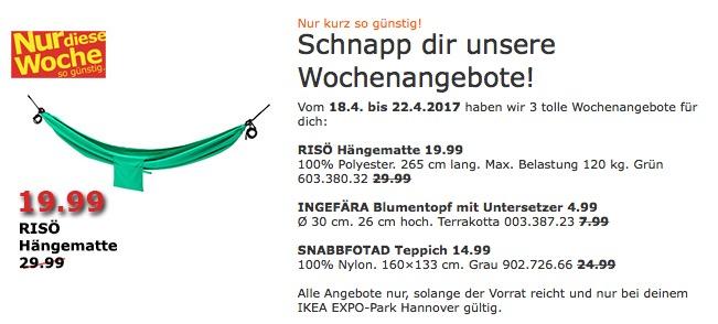 IKEA RISÖ Hängematte, grün