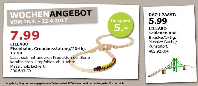 IKEA LILLABO Eisenbahn, Grundausst. 20-tlg., bunt