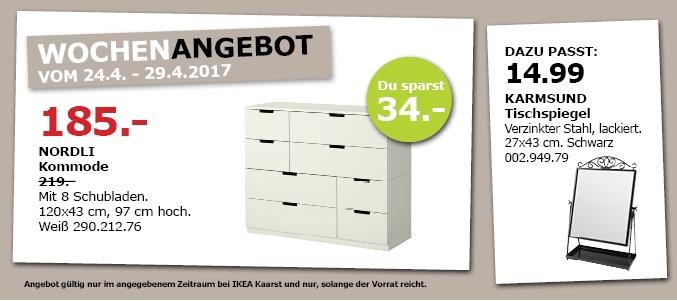 IKEA NORDLI Kommode mit 8 Schubladen, 120x43 cm, 97 cm hoch