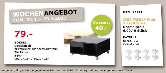 IKEA BOKSEL Couchtisch 79x79 cm, birkefurnier oder schwarzbraun