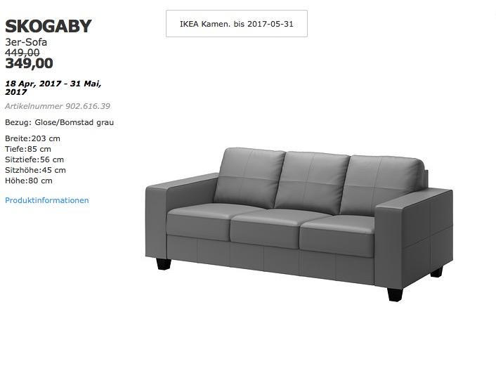 IKEA SKOGABY 3er-Sofa