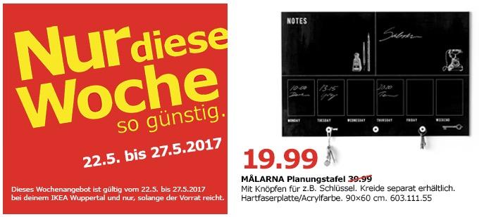 IKEA MALARNA Planungstafel, 90x60 cm