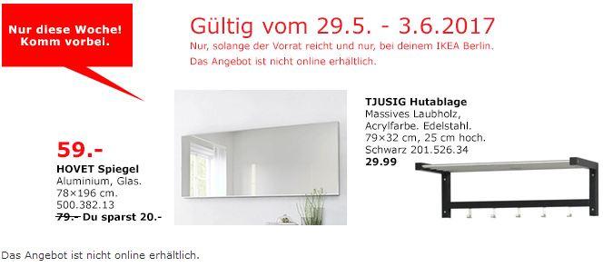 IKEA  HOVET Spiegel, 78x196 cm, Aluminium
