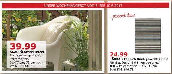 IKEA SKARPÖ Sessel, für draußen geeignet, 81x77 cm, 72 cm hoch, weiß