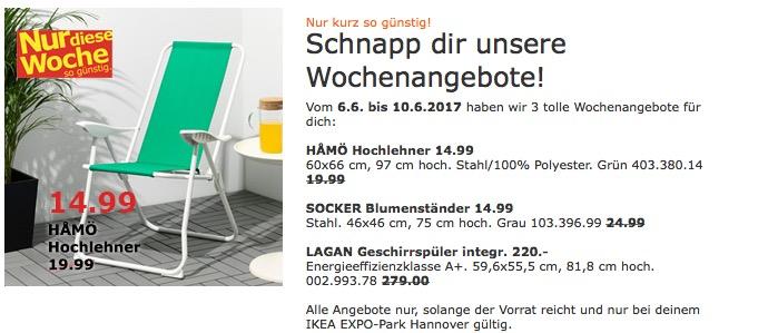 IKEA HAMÖ Hochlehner, 60x66cm, 97 cm hoch, grün