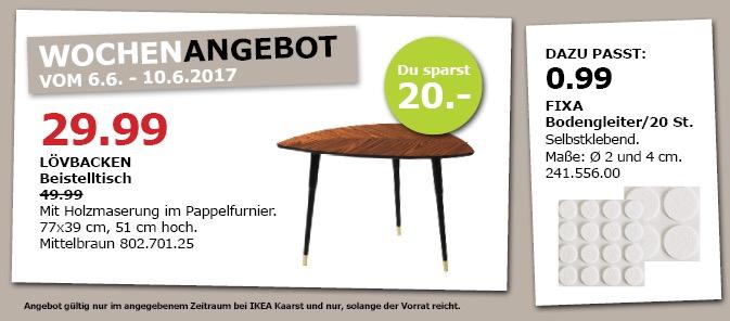IKEA LÖVBACKEN Beistelltisch, 77x39 cm, 51 cm hoch, mittelbraun