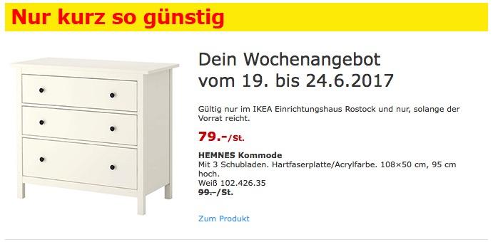 IKEA HEMNES Kommode mit 3 Schubladen, 108×50 cm, 95 cm hoch, weiß