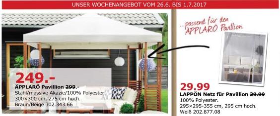 IKEA ÄPPLARÖ Pavillon, 300x300 cm, 275 cm hoch
