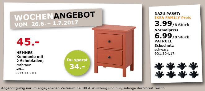 IKEA HEMNES Kommode mit 2 Schubladen, 54 x 38 cm, 66 cm hoch, rotbraun