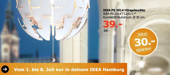 IKEA IKEA PS 2014 Hängeleuchte, Kunstoff/Aluminium, 35 cm