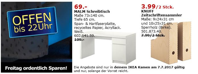 IKEA MALM Schreibtisch, 73x140 cm, 65 cm hoch, weiß