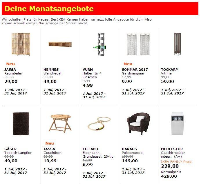 Monatsangebote bei IKEA Kamen (Bsp. HARADS Polstersessel)