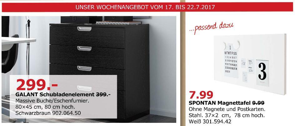 IKEA  GALANT Schubladenelement, 80x45 cm, 80cm hoch, schwarzbraun
