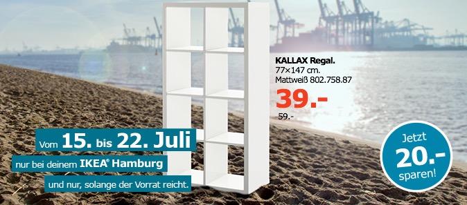 IKEA KALLAX Regal, 77x147 cm, mattweiß