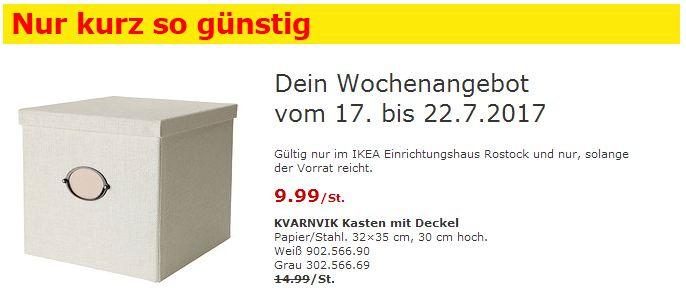 IKEA  KVARNVIK Kasten mit Deckel, 32x35 cm, 30cm hoch, weiß oder grau